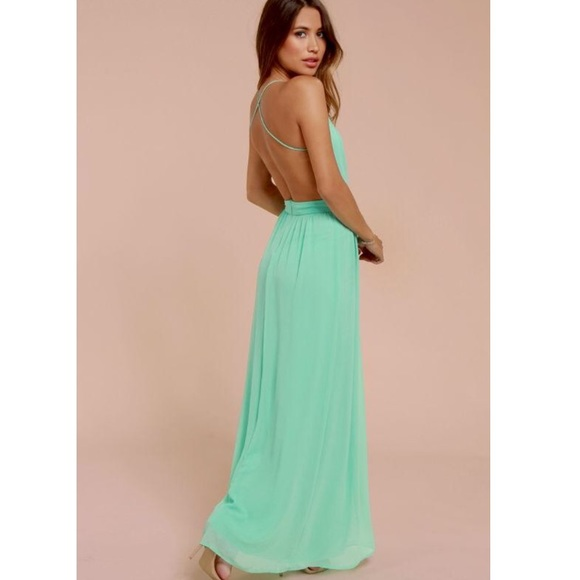 7efd116c920 Lulu s Dresses   Skirts - LULU s PROM DRESS Beautiful Mint Green Maxi Dress